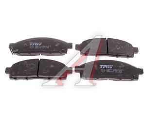 Колодки тормозные MITSUBISHI Pajero Sport, Montero Sport (08-), L200 (06-) передние (4шт.) TRW GDB3435, 4605A198/4605A284