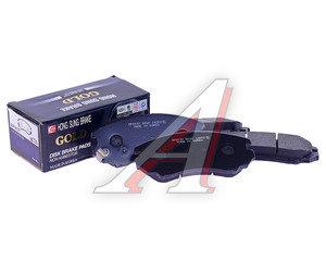 Колодки тормозные HYUNDAI Elantra (06-) передние (4шт.) HSB HP0037, GDB3386/58101-38A90/58101-2HA10, 58101-2HA10