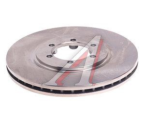 Диск тормозной SSANGYONG Rexton (02-) передний (вентилируемый) (1шт.) KORTEX KD0120, 4144108030