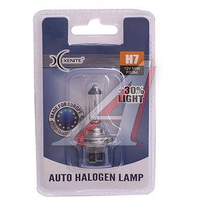 Лампа 12V H7 55W PX26d +30% блистер 1шт. XENITE 1007090, АКГ 12-55 (Н7)