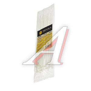 Хомут-стяжка 250х4.0 пластик белый (50шт.) ЭВРИКА ER-04251, CHS-4x250W-50