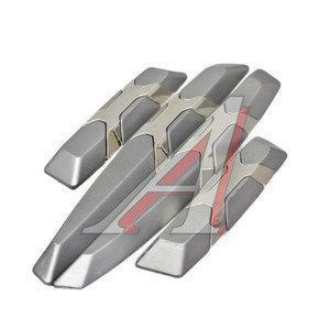 Накладка на дверь Silver Chrome комплект 4шт. GLIPART GT-36700