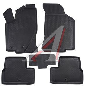 Коврик салона ВАЗ-2190 Гранта (11-) полиуретан черный (4 предм.) RIVAL 16001001, 0016001001