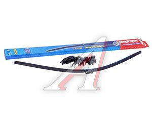 Щетка стеклоочистителя 700мм бескаркасная (7 адаптеров) Universal All Seasons MEGAPOWER M-75028