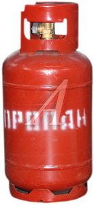 Баллон газовый, пропан, 12л, 1.6МПа, с вентилем НГЗА 12л, 7361