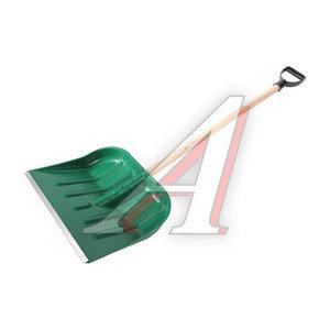 Лопата снеговая пластиковая 400х460мм с деревянным черенком №2 №2, ЗИ-00111/00112
