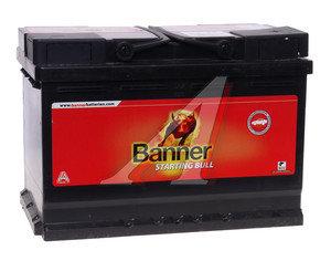 Аккумулятор BANNER Starting Bull 72А/ч обратная полярность 6СТ72 572 12