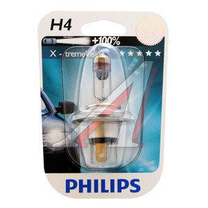 Лампа 12V H4 60/55W +100% P43t-38 блистер (1шт.) X-Treme Vision PHILIPS 12342XV+B1, P-12342XVбл, АКГ12-60+55(Н4)
