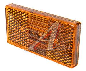 Фонарь габаритный КАМАЗ,УРАЛ,ЛИАЗ (оранжевый 12/24V овальный разъем АМР) АЭК 50.3731-08