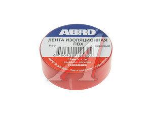 Изолента ПВХ красная 19ммх10м ABRO ABRO EP-912 к, ET-912-R