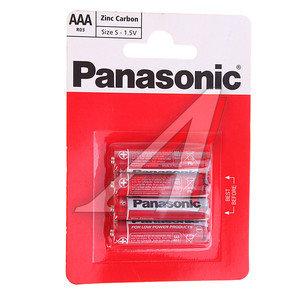 Батарейка AAA R03 1.5V блистер (по 1шт.) Saline PANASONIC PAN-R03бл