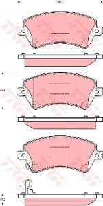 Колодки тормозные TOYOTA Corolla (02-) передние (4шт.) TRW GDB3288, 04465-02130