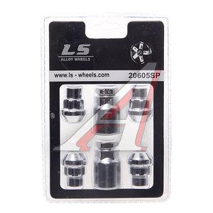 Гайка колеса М12х1.5х36 секретки прессшайба закрытая комплект 4шт. 2 головки 21мм TECHNOLOCK TL-282, 282