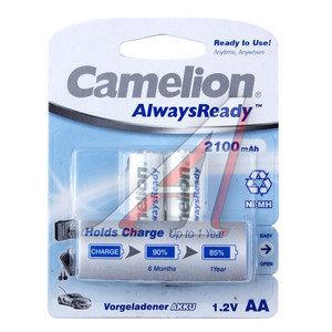 Батарейка AA HR6 1.2V аккумулятор Ni-MH 2100mAh блистер (2шт.) CAMELION C-210AAKCбл