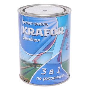 Грунт-эмаль по ржавчине черный 1л KRAFOR KRAFOR