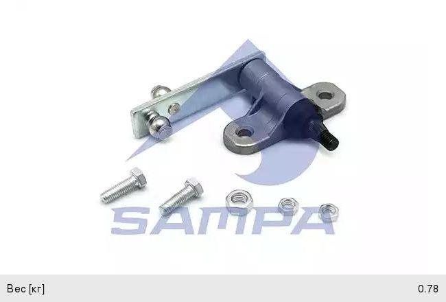 Ось SCANIA 4,P,G,R,T series трапеции стеклоочистителя левая SAMPA 042.338, 1525891