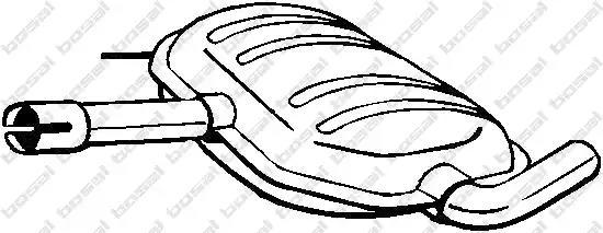 Резонатор VW Passat BOSAL 233-487