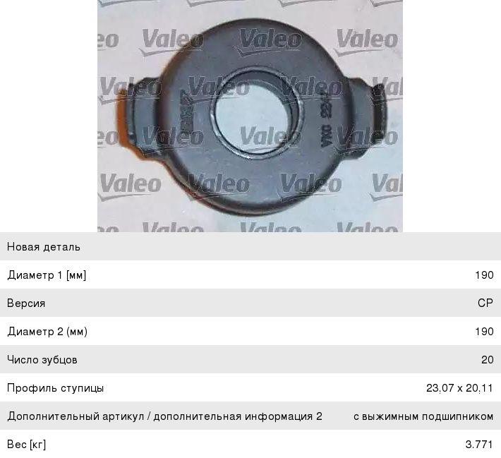801122 Valeo комплект сцепления