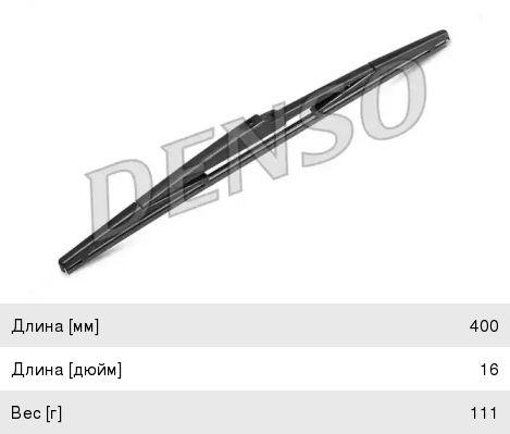 Щетка стеклоочистителя 400мм задняя DENSO DRB-040