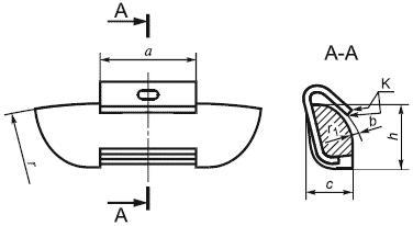 Конструкция разъемного балансировочного грузика