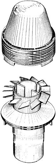 Конструкция воздухозаборника-моноциклона (с завихрителем)