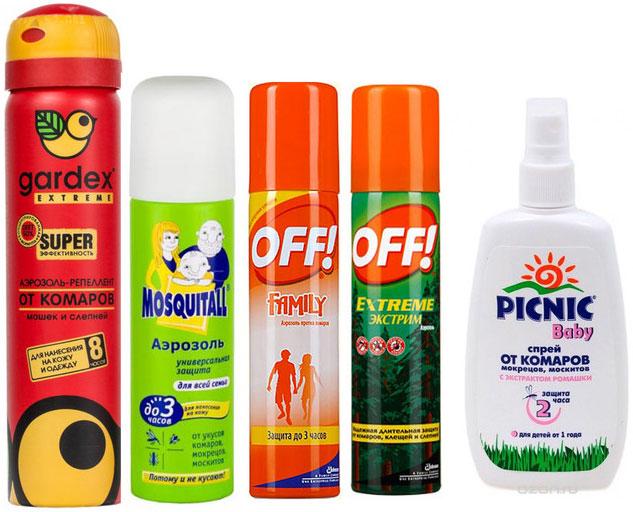 Современный рынок предлагает массу репеллентов в виде спрея для защиты от кровососущих насекомых