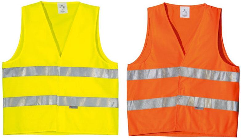 Сигнальные жилеты могут иметь различные цвета
