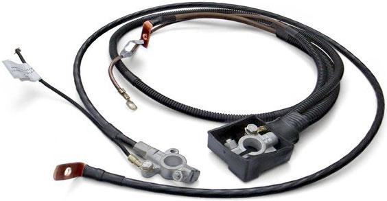 Комплект аккумуляторных проводов с отводами, защитным кожухом и дополнительной гофрированной изоляцией